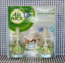 2 Refills Air Wick COOL LINEN & WHITE LILAC Scented Oil Refills (1 Box)