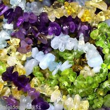 MULTI GEMSTONE BEAD CHIPS AQUAMARINE CITRINE PERIDOT BEADS CHIP SC23