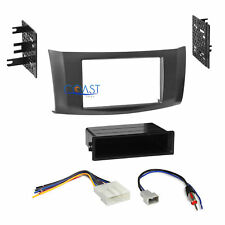 Car Radio Stereo Din 2 Din Gray Dash Kit Wire harness for 2013-up Nissan Sentra