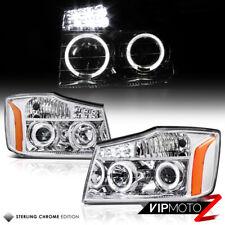 For 2004-2015 Titan V8 Extended Crew TA60 Chrome Halo LED Projector Headlight