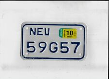 """NEVADA 2013 license plate """"59G57"""" ***MOTORCYCLE***"""