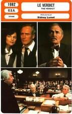 FICHE CINEMA : VERDICT - Newman,Rampling,Warden,Lumet 1982 The Verdict