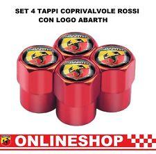 Rosso Set 2 Tappi Coprivalvole Logo Ducati testa rotonda Col