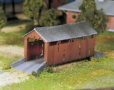 Bachmann Plasticville O Scale Built-Up Structure - Covered Bridge
