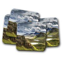 4 Set - Scotland Highland Mountains Coaster - Scotch Mist Awesome Gift #16385