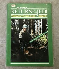 1983 STARWARS ACTIVITY BOOK - RETURN OF THE JEDI THINGS TO DO AND MAKE