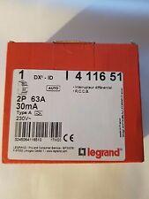 LOT X1 LEGRAND DX3 Interrupteur différentiel AUTO 63A 30mA Type A neuf ! 411651