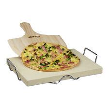 Pizzastein Set, 3cm dick, Heißer Stein, Backstein und Pizzaschieber Brotschieber