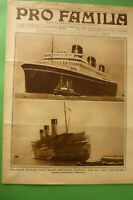 Pro Familia 1933 Fire Ship Transatlantique French Atlantique + Group Edison