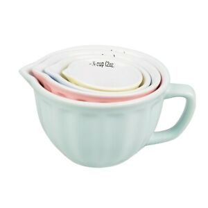 Sass & Belle Retro Pastel Measuring Cups - Set of 4 - Brand New