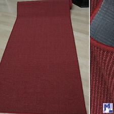 Echt Sisal Teppich - Läufer SISAL Bouclé fein 11 Rot in verschiedenen Breiten