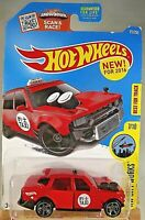 2016 Hot Wheels #172 HW City Works 7/10 TIME ATTAXI Red w/Gray MC5 Spoke Wheels