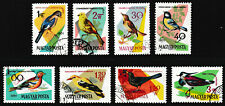 1961 Hungary Birds Series Stamps set of 8 - Used / Excellent