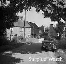 B/W Negative Stanford Dingley Berkshire Houses Old Car 1959 + Copyright redb20