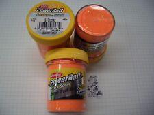 Berkley Power Bait Trout Bait Glitter Fl.Orange 3 x 50g-Glas 100g/6,66€