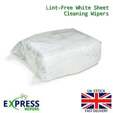 White 100% Cotton Lint Free Industrial Garage Cleaning Rags Wipers Cloths