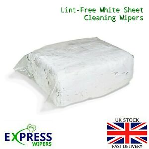 White 100% Cotton Lint Free Industrial Garage Cleaning Wiping Rags Wipers Cloths