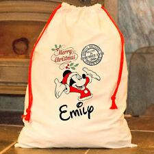 Personalizado Mickey Mouse Papá Noel Saco Feliz Papá Noel feliz Disney Maletín
