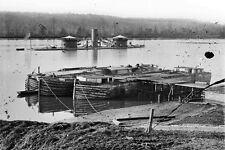 New 5x7 Civil War Photo: Double-Turret Monitor USS ONONDAGA on the James River