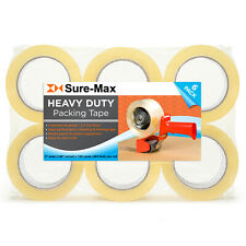 """2"""" Heavy-Duty 2.7mil Clear Shipping Packing Moving Tape 120 yards/360' ea"""