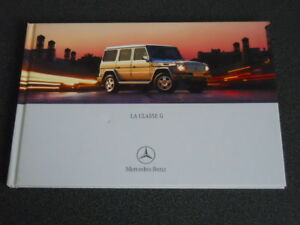 MERCEDES-BENZ classe G brochure catalogue rigide - édition 10/2000