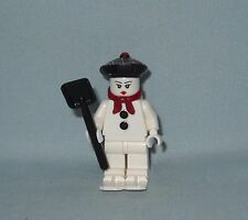 NEW LEGO CHRISTMAS, WINTER MRS FROSTY SNOWMAN MINIFIGURE WITH TAM, SHOVEL & SKIS