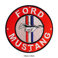Ford Mustang Car Brand Embroidered Patch Iron on Sew On Badge For Clothes etc