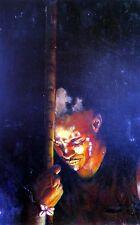"Original Oil painting ""Warrior""by Nardu Debrah,Portrait,Realism,Size13.5'X21"",US"