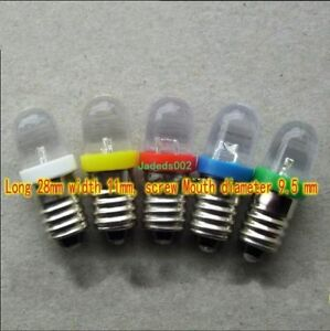 DC/AC E10 screw light bulb LED Indicator/Warning Light Instrument Semaphores