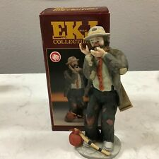 "Collectible Emmett Kelly Jr Clown Figurine "" Toothache� by Flambro"