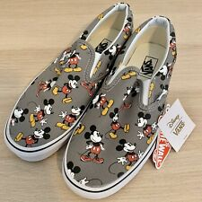 VANS x Disney Mickey Mouse Classic Slip On Shoes Men's Size 9.5 Women's 11 NEW