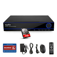 SANNCE 2TB 16CH 5in1 1080N Digital Video Recorder DVR Surveillance CCTV System