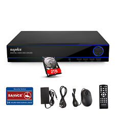 SANNCE 1080N 16CH DVR w/  2TB HDD Home Video CCTV Security Recording System APP
