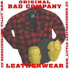 ChaCHa Bad Company Leather Aramid Holzfäller Hemd Rot/Schwarz Motorrad Jacke XL