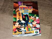 Magical Tetris Instruction Manual Booklet Nintendo 64 N64