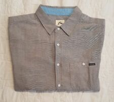 Rusty Soledad Men's Short Sleeve Button Front Casual Shirt Sz. L - New with Tags