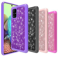 For Samsung Galaxy A51 5G UW A71 5G Case Shockproof Bling Armor Cover