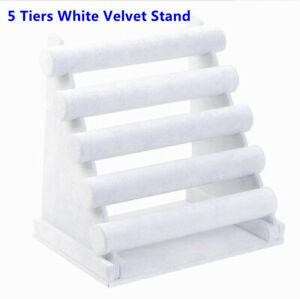5 Tier White Velvet Bangle Watch Bracelets DISPLAY STAND