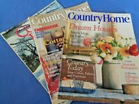 Lot 3 COUNTRY HOME magazines Christmas Album Quilts Bandboxes Farmhouse Flowers