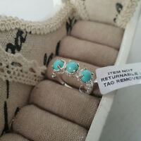 Sonoran Turquoise Trilogy Ring in Sterling Silver