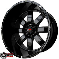NEW RUGGED TUFF RT888 20X12 WHEELS SET GLOSS BLACK 6X135 6X5.3 LINCOLN FORD F150