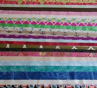 Jelly Roll - 2 1/2 X WOF Scrappy Grab Bag Mixed Assortment Quilt Cotton Fabric