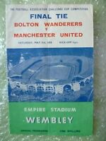 1958 FA Cup FINAL Official Programme BOLTON WANDERERS v MANCHESTER UNITED, 3 May
