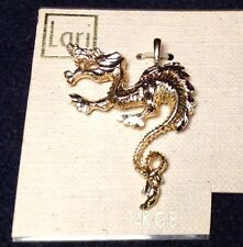 DRAGON Pendant Charm 14K Gold Bonded (Not Plated) for necklace.