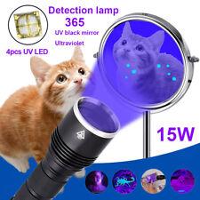 15W 365NM Ultraviolet UV LED Flashlight Blacklight Pet Urine Inspection Torch
