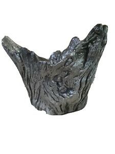 "Uttermost Massimo 12"" X 10"" Bowl Planter Metallic Finish Tree Wood Design 20149"