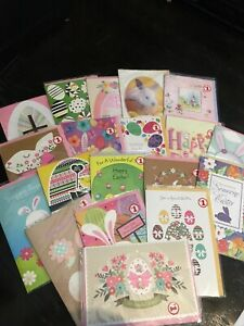 AMRICAN GREETINGS EASTER CARDS NEW LOT OF 19 WITH ENVELOPES NEW