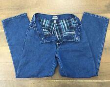 """LL Bean Original Fit Womens Flannel Lined Jeans Straight Leg Sz 10 Reg Waist 30"""""""