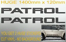 HUGE PATROL Door Intercooler stickers x2 1400mm for Nissan 4x4 GU GQ