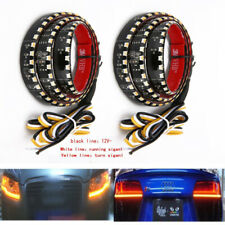 1Pair 60CM LED Headlight Slim Strip Light Daytime Running Sequential Flow Lamp